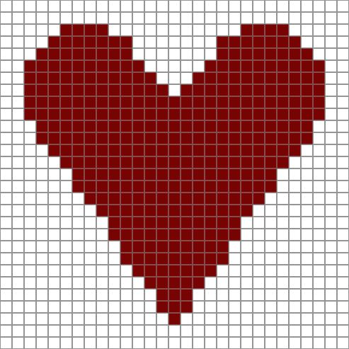 Free Printable Heart Chart -- Enjoy Using This Free Printable Chart for Crochet and Other Crafts