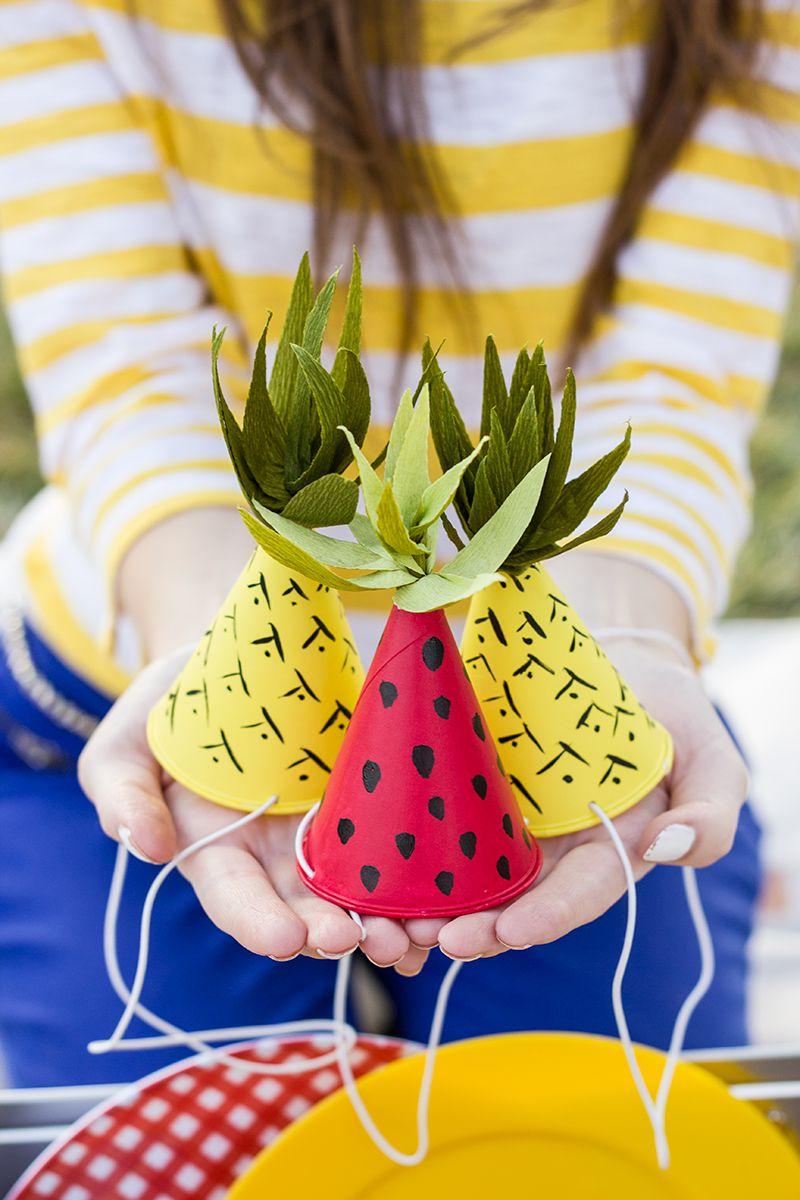 DIY Mini Pineapple Party Hats
