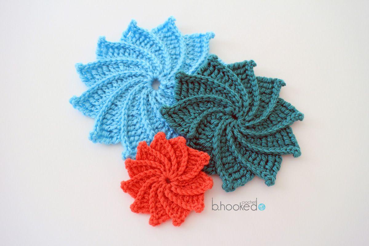 Spiral Crochet Flower Pattern