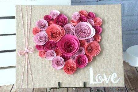28 fun and easy to make paper flower projects you can make heart shaped rolled paper flower wall decor mightylinksfo