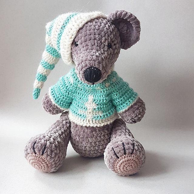 CROCHET TEDDY BEAR with clothes pdf pattern. Amigurumi bear | Etsy | 640x640