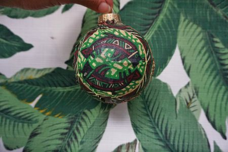 african wax print diy christmas ornament