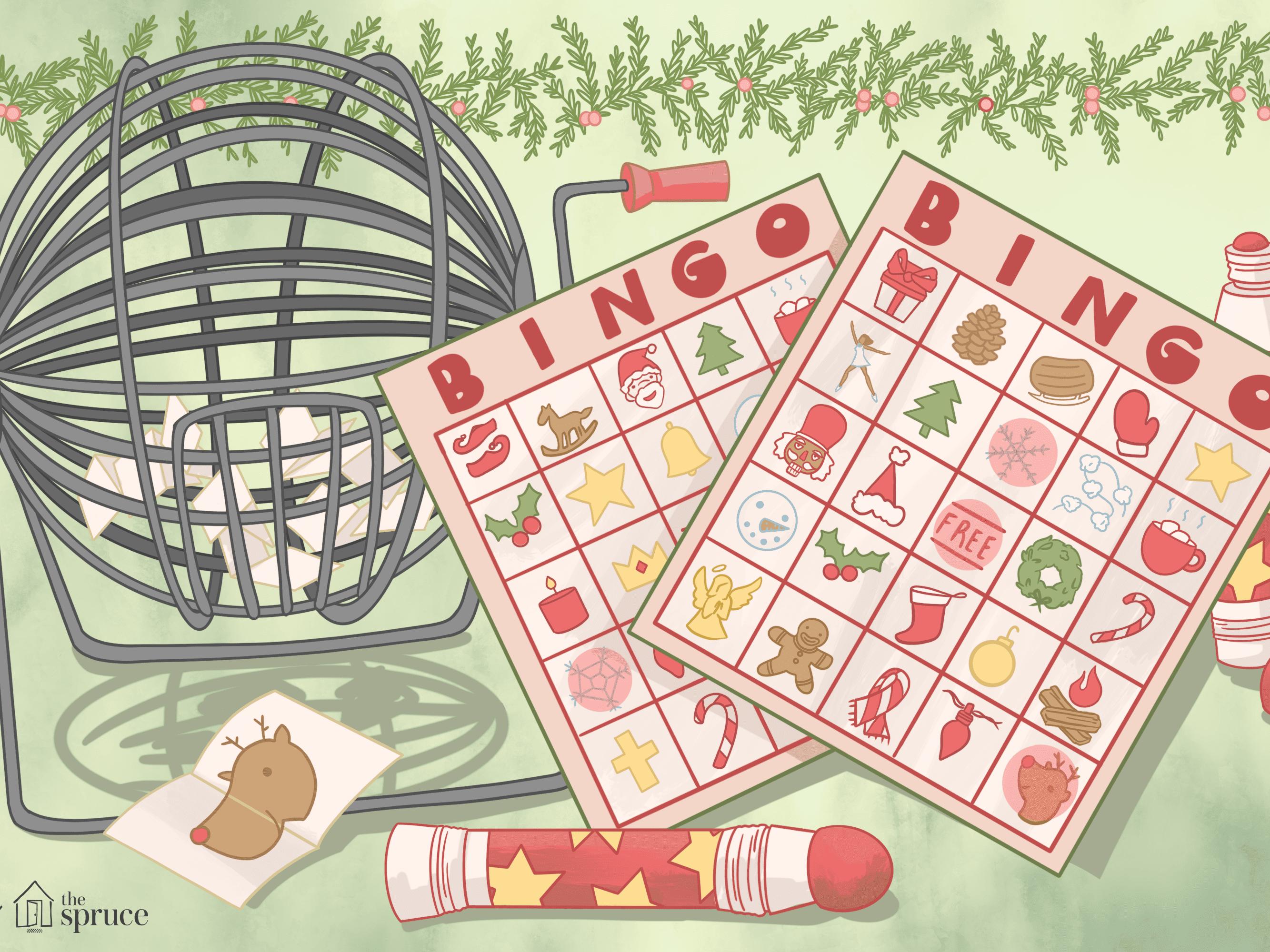 21 Free, Printable Christmas Bingo Games for the Family For Blank Bingo Card Template Microsoft Word