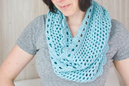 Crochet Infinity Scarf Free Pattern Magnificent Crochet Infinity Scarf Pattern In The Round