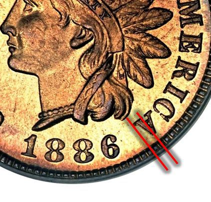 1886 Indian Head Cent Type 1 Variety