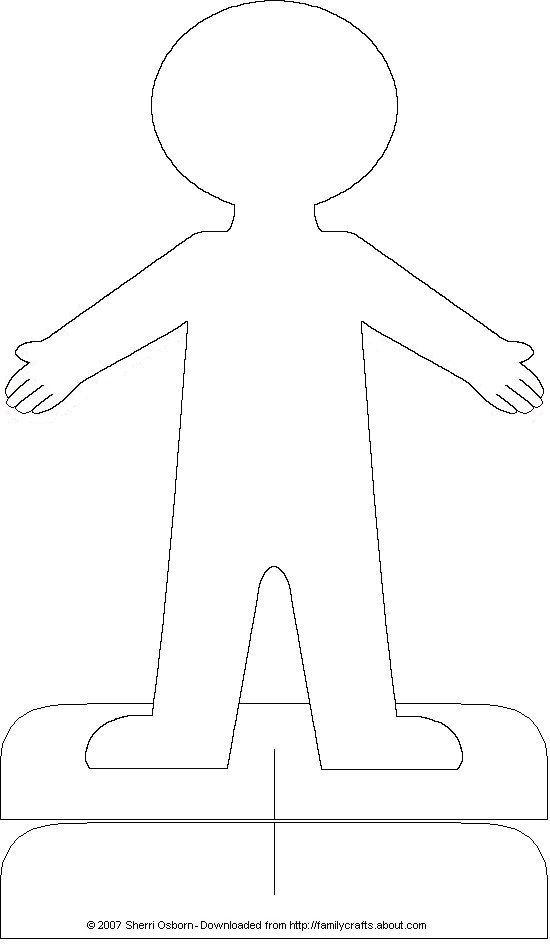 Printable Paper Doll Body