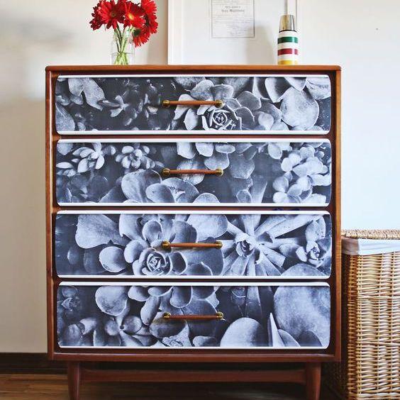 succulent printed dresser