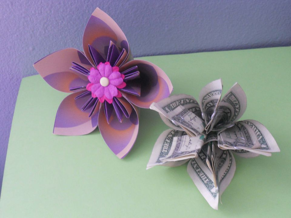 How to make a money origami kusudama flower money origami kusudama flower mightylinksfo