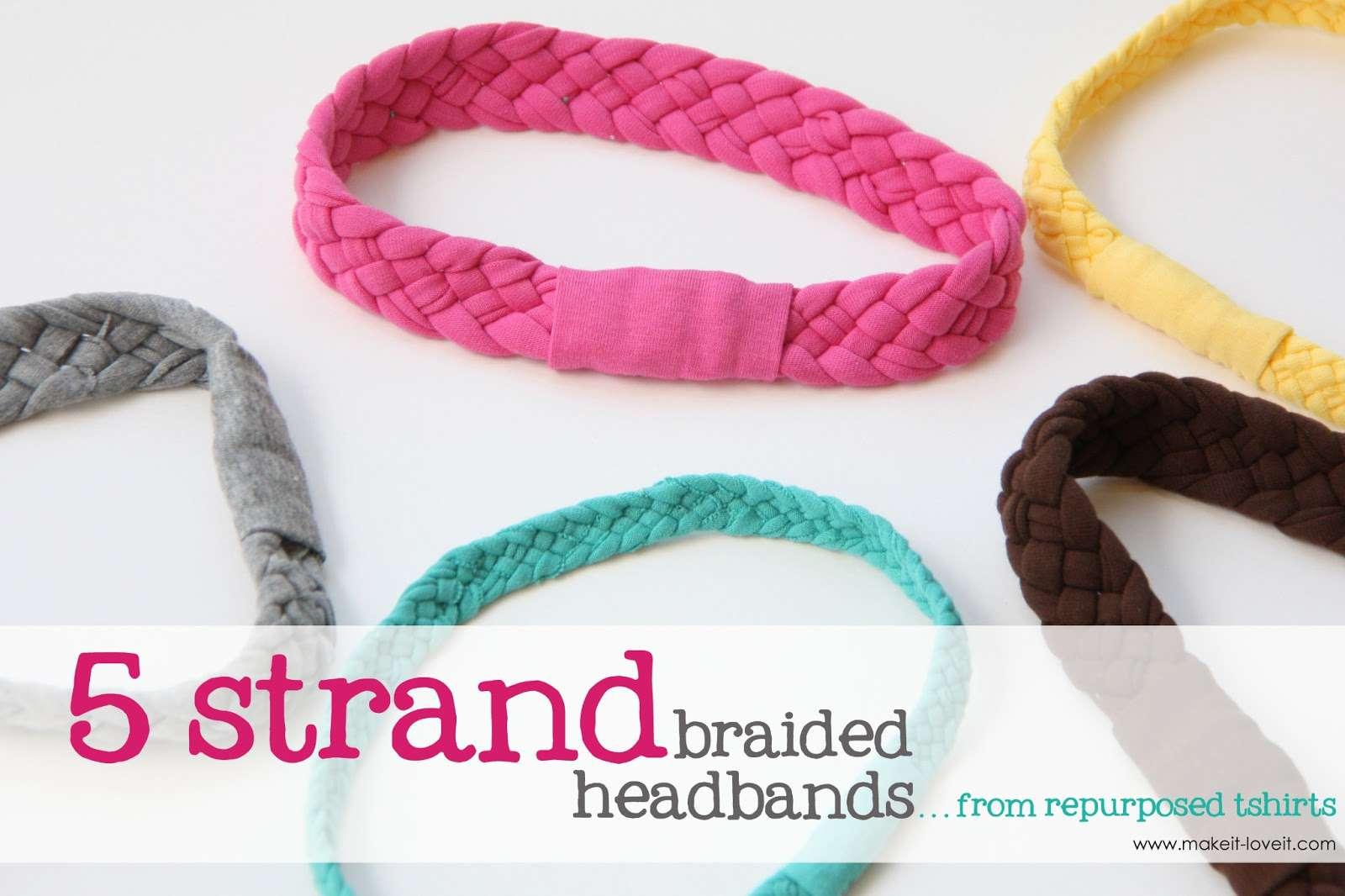 Braided Tee Shirt Headband