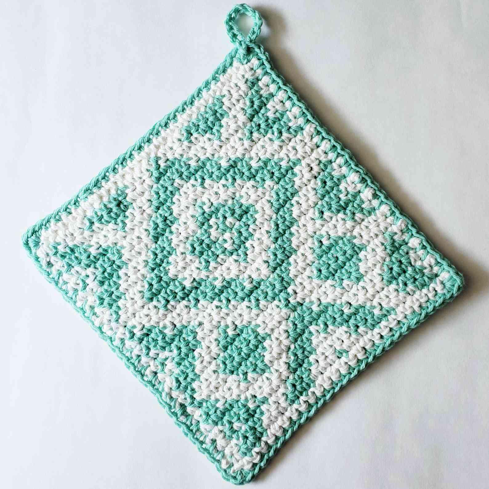 Tapestry Crochet Diamond Pot Holder Pattern
