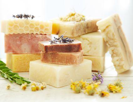 Homemade organic soap