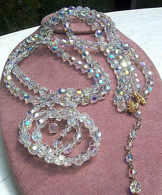 Alice Caviness Crystal Necklace & Bracelet Set