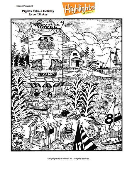 A Hidden Picture Featuring Farm