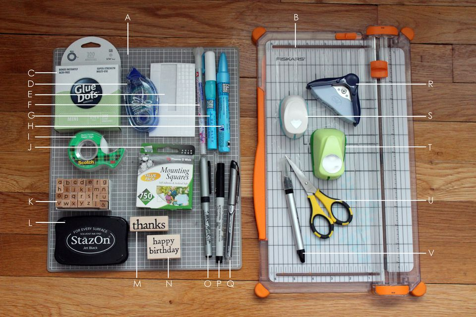 basic card making supplies