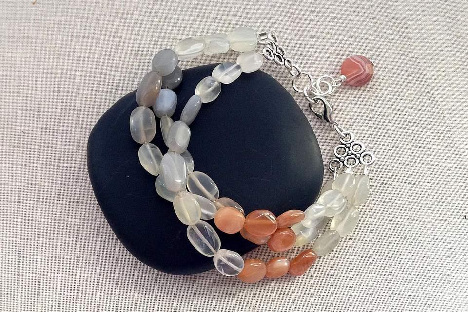 Mutli-strand moonstone bracelet