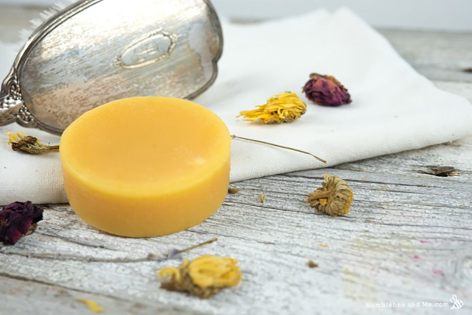 shampoo bar with orange