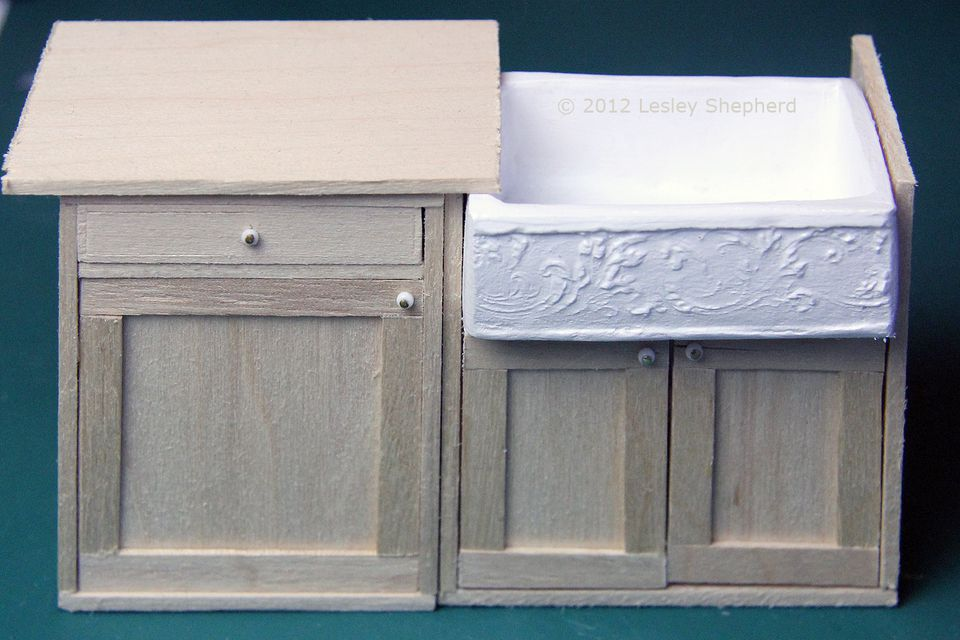 Build Sink Cabinets For A Dollhouse Kitchen