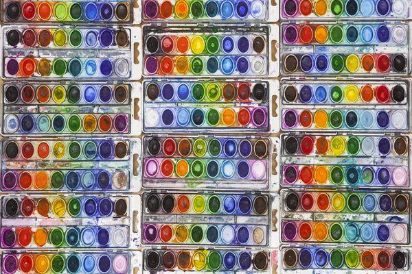 Vividly Colored Watercolor Pans