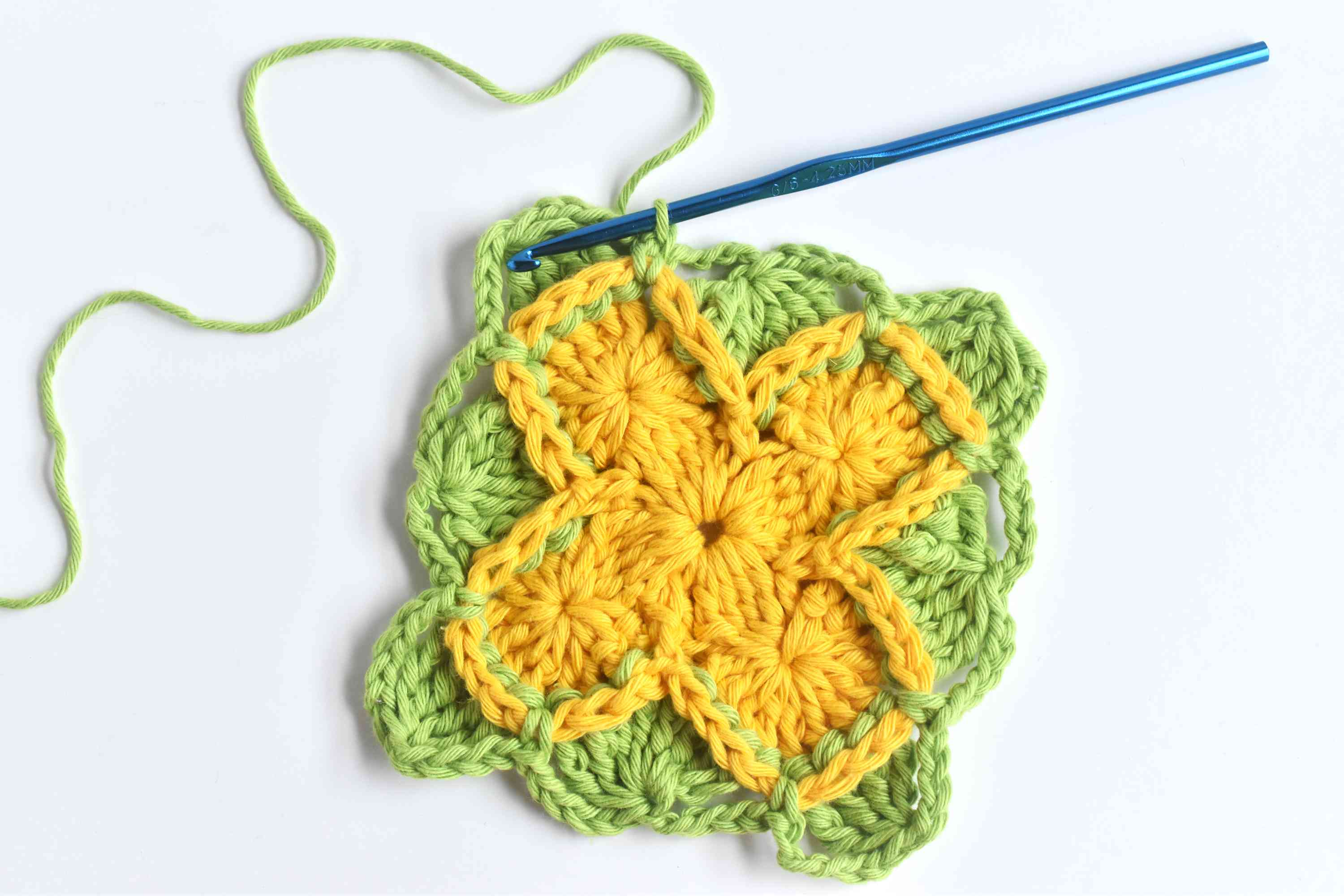 Repeat to Complete Round 3 of Bavarian Crochet