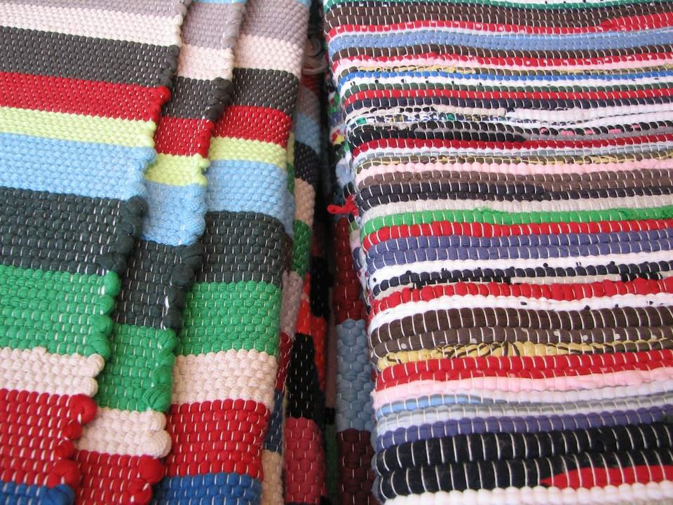 Stripey rag rugs