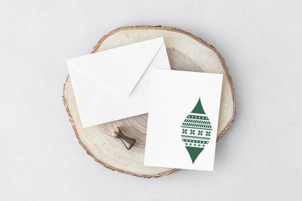 green christmas card