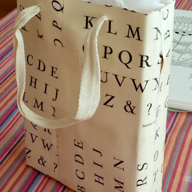 make a paper gift bag from an old book