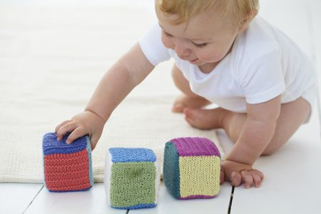 Baby Block Toy Free Knitting Pattern