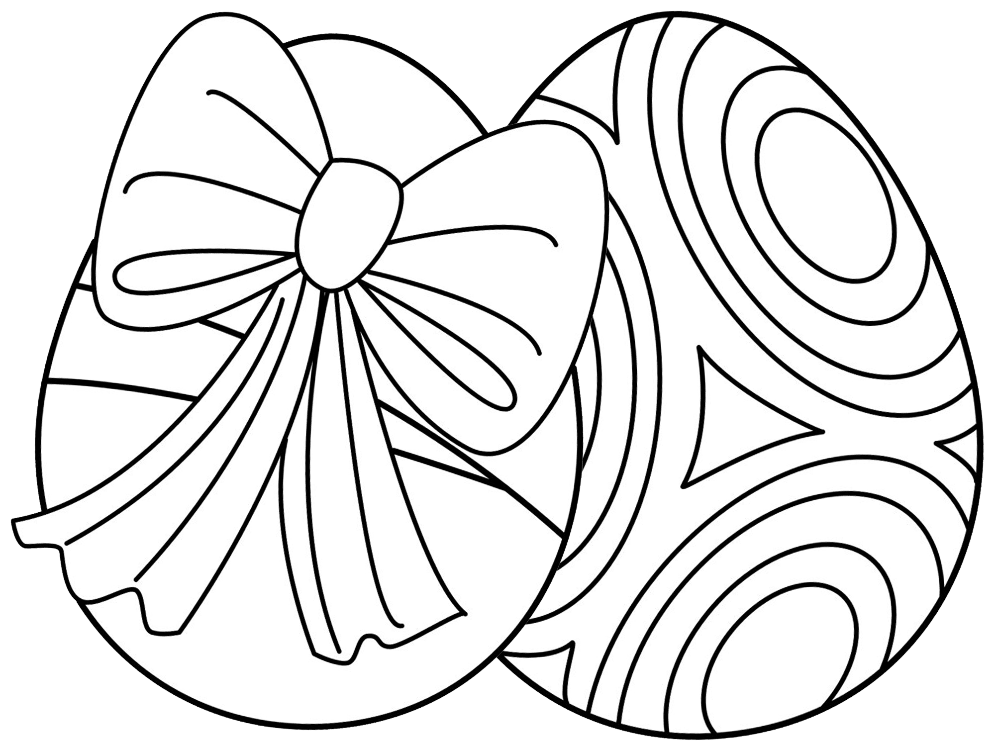 271 Free, Printable Easter Egg Coloring Pages