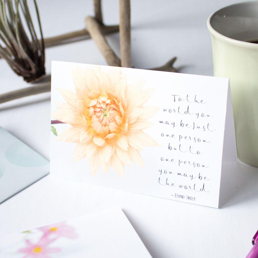 printable floral style wedding card