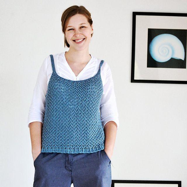 Silk Textured Crochet Tank Top Pattern