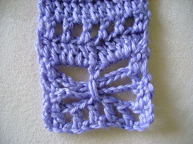 Butterfly stitch crochet scarf