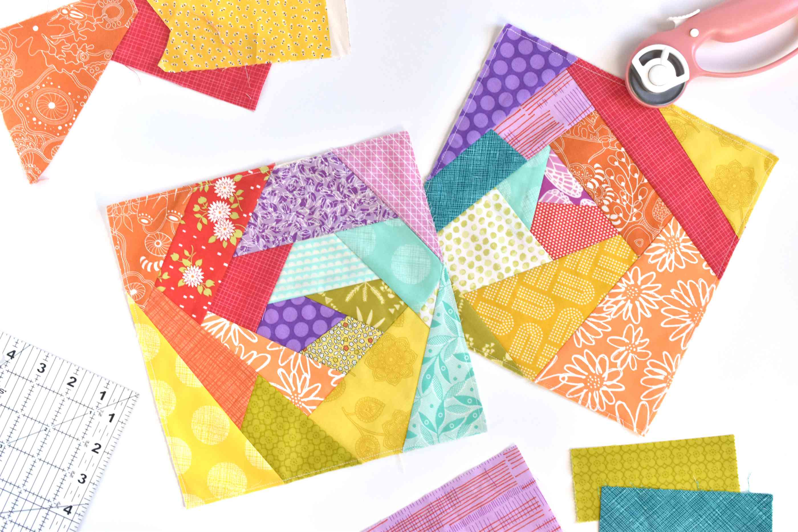 Crazy Quilt Squares and tools