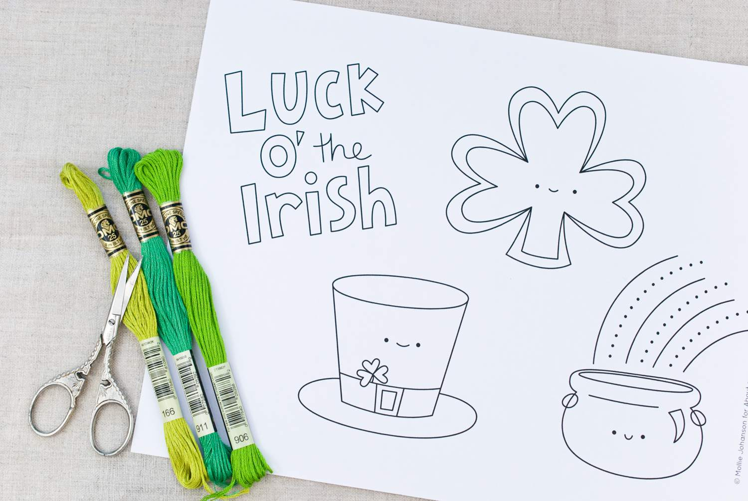 Sweet and Cute St. Patrick\'s Day Embroidery Patterns