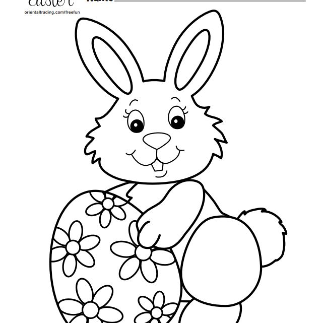 bunny coloring pages free 231 Free, Printable Easter Bunny Coloring Pages bunny coloring pages free