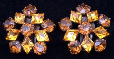 Ca. 1950s Schreiner Amber Earrings