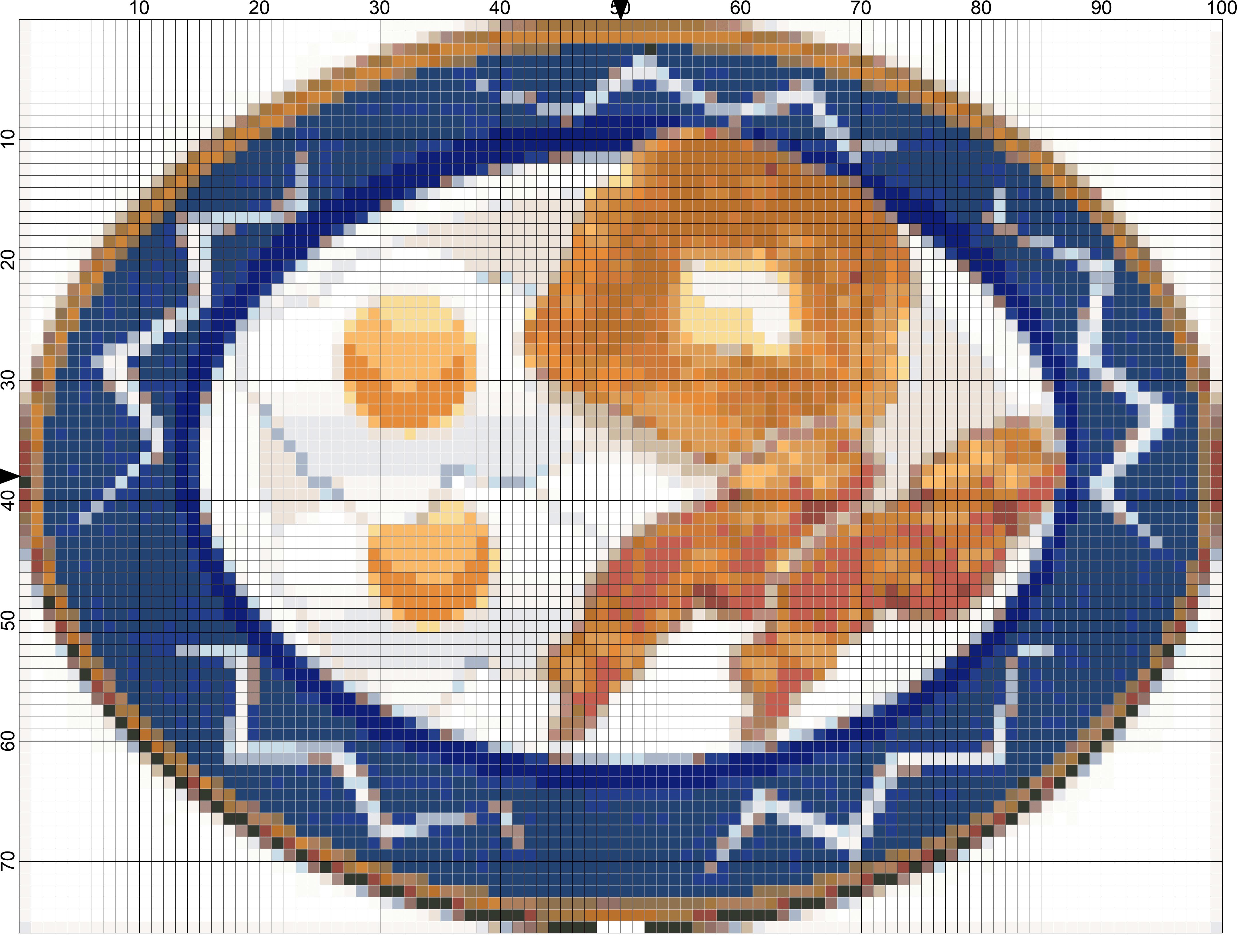 eggs-bacon-toast-breakfast needlepoint chart