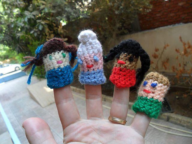 Little people finger puppets