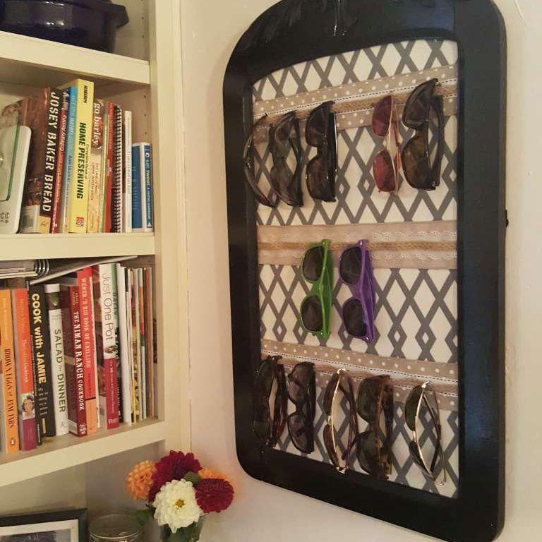 ribbon sunglass storage project