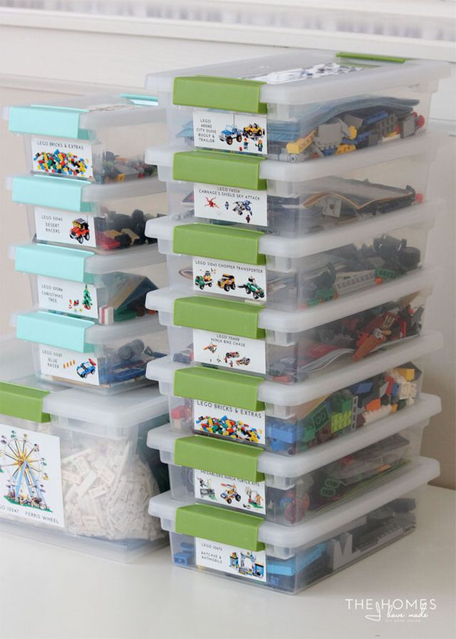 Storage containers for legos