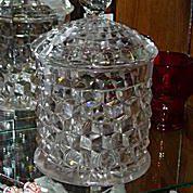 Fostoria American Cracker Jar with Lid