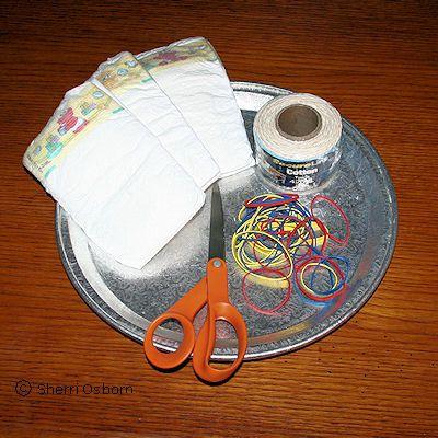 Supplies You Need to Make a Diaper Cake