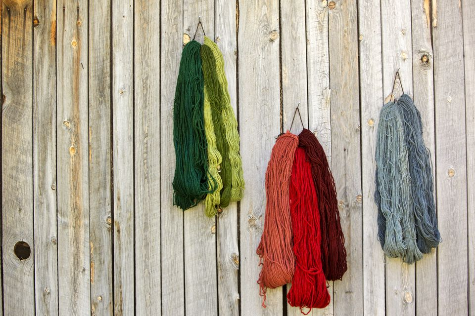 Dyed wool