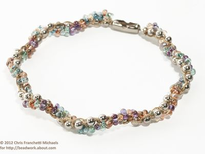 8 Steps To Making Beaded Spiral Ball Chain Jewelry