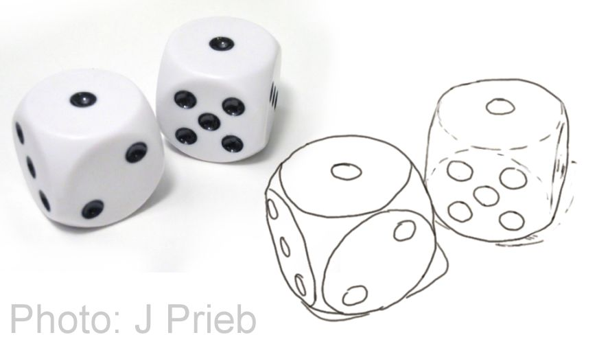 Drwing of dice