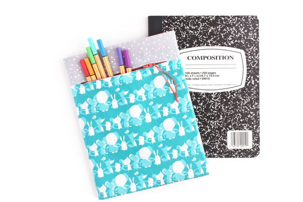 How to Sew a Composition Book Cover