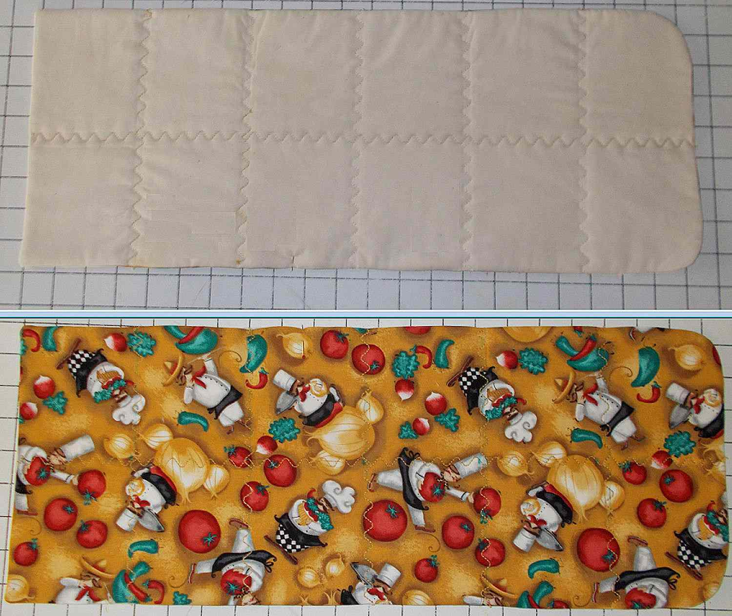 Quilting for the potato bag