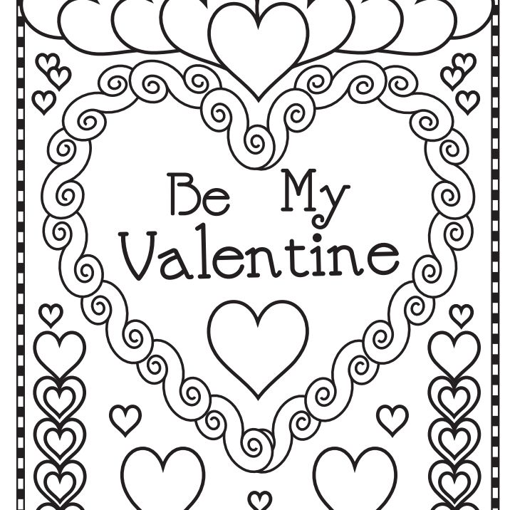 A Be My Valentine Coloring