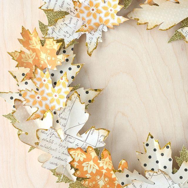 A paper leaf wreath