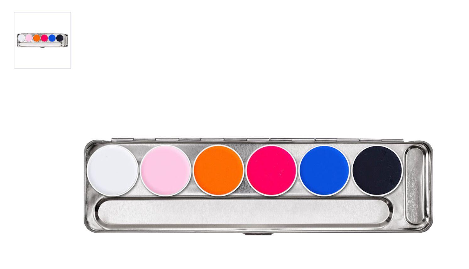 Kryolan Aquacolor UV Dayglow Palette