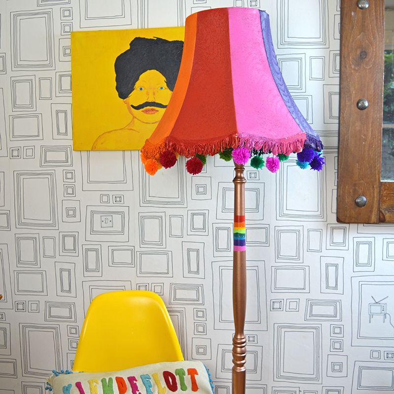 playful floor lamp makeover